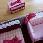 チョコの箱でリカちゃんの引き出しを作った!色をそろえると可愛くなるよ!