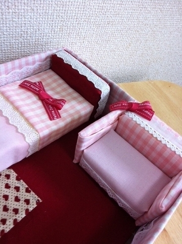 リカちゃんベッド手作り