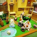材料は百均2商品だけ!手作りシルバニアお庭ボードの作り方